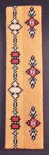 Finished Needlepoint Aztec Design Bookmark