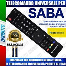 TELECOMANDO UNIVERSALE SABA, CLICCA SUL TUO MODELLO LO RICEVERAI GIA PRONTO