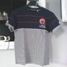 T-shirt Original Marines blu e bianca a righe taglia 10 anni maglia maglietta