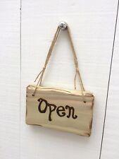 Handmade Rustic Wooden Open Closed Cafe Restaurant Shop Hotel Door Sign Plaque