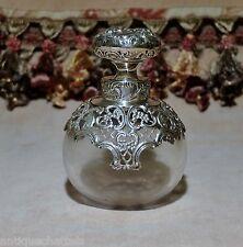 ANTIQUE WILLIAM COMYNS SILVER SCENT BOTTLE STOPPER Victorian Perfume Bottle
