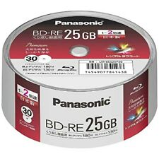 Panasonic 30 Blu-ray BD-RE 25GB 2X Original Spindle Printable Rewritable