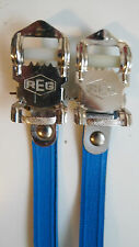 Vintage NOS Classic 80's REG Italian Pedal Straps Blue for your Colnago Cinelli