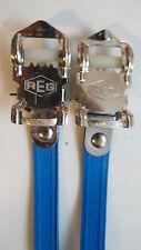 VINTAGE NOS Classic anni'80 REG ITALIANO Pedale Cinghie Blu per il tuo COLNAGO CINELLI