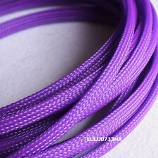 8mm Purple  Expandable Braid DENSE Speaker Audio Cable Sleeve Cover 5m