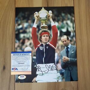 John McEnroe Signed 8x10 Photo COA PSA/DNA #AJ22083 Autographed