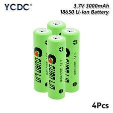 4Pcs Recargable Li-Ion 18650 Batería 3.7V 3000mAh para Video Timbre LED antorcha