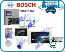 "BOSCH ALARM Solution 3000 Kit 5"" touch screen keypad 3 PIR free programming"