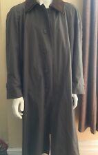 Jos Joseph A Bank Leather Collar Rain Trench Coat Topcoat Rmvble Lining $475 42R