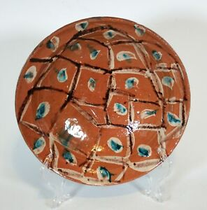 19th C Antique Swat Valley Pakistan/Afghan Read Earthenware Pottery Bowl