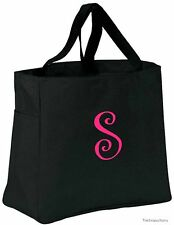 Personalized Tote Bag Monogram Bridesmaid Gift Bride Bridal Wedding Favor Black