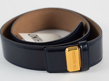 New Moschino Redwall  Navy Blue Patent leather Belt Size 42