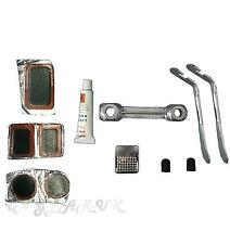 tyre repair puncture set levers cycle bicycle bike Tire hole fix levers spanner