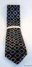 """Michael Kors Men's 100% Silk Neck Tie Necktie Gray Blue 3 1/2"""" Jumbo Dot"""