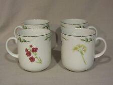 """St. Andrews """"Botanics"""" Flower/Floral Mugs - Set of 4"""