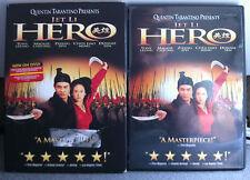 JET LI ZIYI ZHANG TONY LEUNG Hero 2002 Artes Marciales Epic R1 DVD con / FUNDA