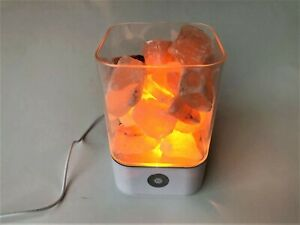 Bedside Lamp Himalayan Rock Salt with Colour Change and Touch dimming