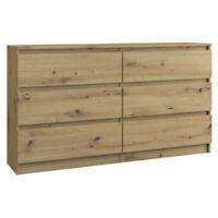 Kommode mit 6 Schubladen Sideboard artisan Anrichte holz 140cm