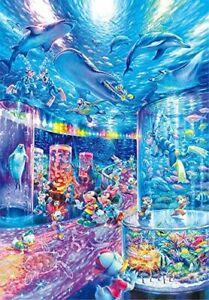 Tenyo Jigsaw Puzzle Night Aquarium 1000 piece Disney shines 51 73.5cm