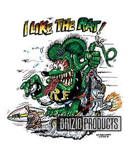 "Rat Fink ""I Like The Rat"" White Tee Shirts 8775 Front Print"