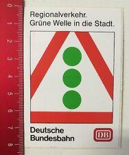 Aufkleber/Sticker: DB Deutsche Bundesbahn - Grüne Welle Regionalverkehr(0305164)