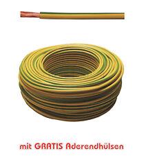 10m Erdungskabel 6mm² Grün/Gelb feindrähtig H07V-K - Profi-Line