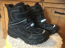 Pre Owned CLARK'S ICE TIME BOOTS, BLACK, Children's SIZE 10M.  US Sizing.