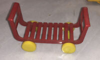 Vintage Marx Red Terminal Luggage Hand Truck Cart Nice!