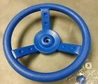 BLUE SWING SET STEERING WHEEL, CHILD PLAYGROUND, PARK, PLAY HOUSE, PLAYSET NEW