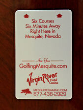 Hotel & Casino Room Key Card The Virgin River in Mesquite Nevada are you golfing