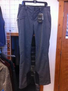 Women's Obermeyer Malta Ski / Snowboard Pant color Charcoal size 12 Long