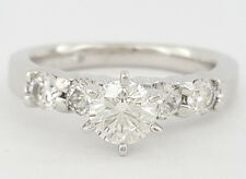 0.95 ct The Leo 14K White Gold & Platinum Round Cut Diamond Engagement Ring IGI