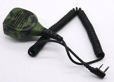 Military Shoulder Speaker Mic FOR KENWOOD TYT F8 BAOFENG UV5R UV100 Radio 2PIN