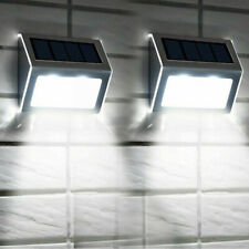 More details for 2x super bright solar powered door fence wall lights led outdoor garden lighting