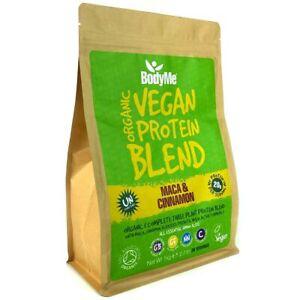 BodyMe Organic Vegan Protein Powder Blend   MACA & CINNAMON 1Kg 3 Plant Proteins