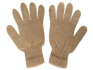 Very Warm Soft 100% Camel Wool Gloves Beige, 1 pair. Made in Mongolia.
