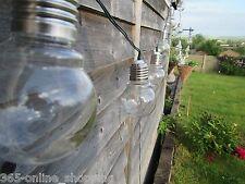 10pc ad energia solare rétro lampadina filo di luci per giardino, ESTERNO FATATO