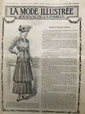 MODE ILLUSTREE SEWING PATTERN May 30,1915 - Ladies Dress & costume,Child dresses