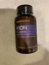 Amazon Elements Vegan Iron 18 MG Supports Immune Function - 195 Capsules