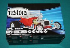 "Ford ""T"" Bucket Red Red Pre-Decorated Kit Testors 1/24 Sealed."