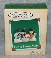 Hallmark Keepsake Let It Snow, Man! Miniature Ornament 2004