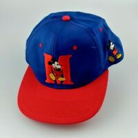 Fresh Caps Mickey Mouse Red Blue Disney Hat Snapback RARE Vintage 90s