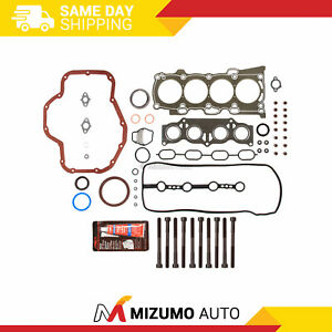 Full Gasket Set Head Bolts Fit Scion tC Toyota Camry Solara Highlander 2AZFE