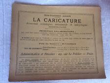 """Journal """"La Caricature"""" - 17eme année"""