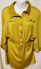 Misguided NEW yellow Satin  Women's Size 10 Line Dress $74