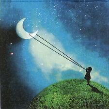 TOVAGLIOLI di carta 4x-Inseguendo la luna-per feste, Decoupage CRAFT