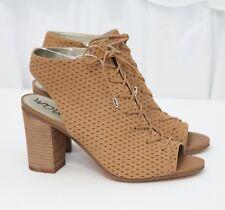SAM EDELMAN Women's Ennette Lace Up Carmel Leather Bootie Shoes Sz 9M EUR 39 NEW