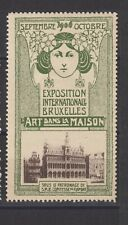 Belgium Poster Stamp Art Nouveau 1906