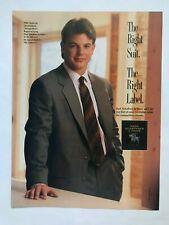 Mike Tomczak for Hart Schaffner & Marx Vintage 1989 Print Ad