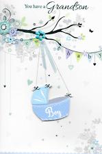 Isabels Garden, si dispone di un bambino nipote CARD,3 D fatti a mano, blue.top qualità (N3)